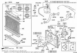 Toyota Camry Engine Coolant Reservoir  Radiator  Mark
