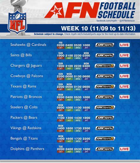 nfl football schedule week  nov    ncaa college