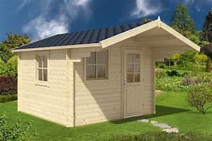 Gartenhaus Von Bauhaus : holz gartenhaus mit vordach sunset a 8 7m 40mm 3x3m hansagarten24 ~ Whattoseeinmadrid.com Haus und Dekorationen