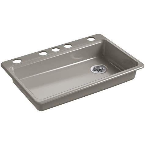 undermount cast iron kitchen sinks kohler riverby undermount cast iron 33 in 5 single 8720