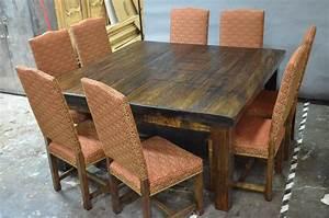 Table Salle A Manger 8 Personnes : meubles de salle manger table de bois massif faites sur mesure ~ Teatrodelosmanantiales.com Idées de Décoration