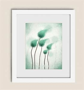 teal abstract round tree wall art print 11 x by With teal wall art