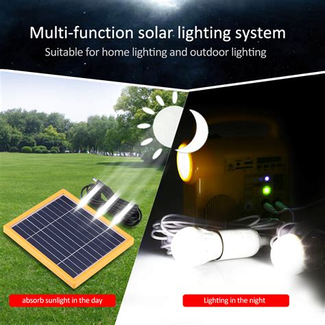 outdoor solar lighting system kit with 2 led lights solar
