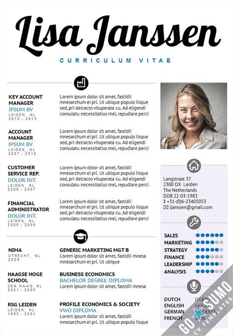 creative cv template 2 page template in word and