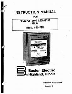 mutiple shot reclosing relay model be1 79m manual basler With general electric relay manuals