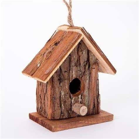 cabane 224 oiseaux nichoir en bois forme maison avec perchoir 8x14x16cm marron achat vente