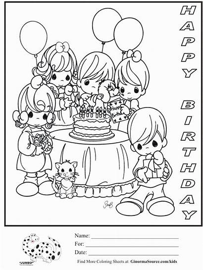Coloring Birthday Happy Pages Mom Printable Adults
