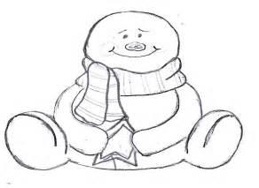 Pattern Snowman Template Printable