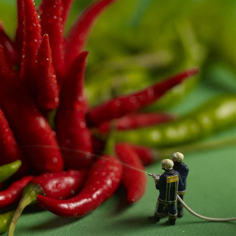 creation cuisine mini dramas created out of figurines and food