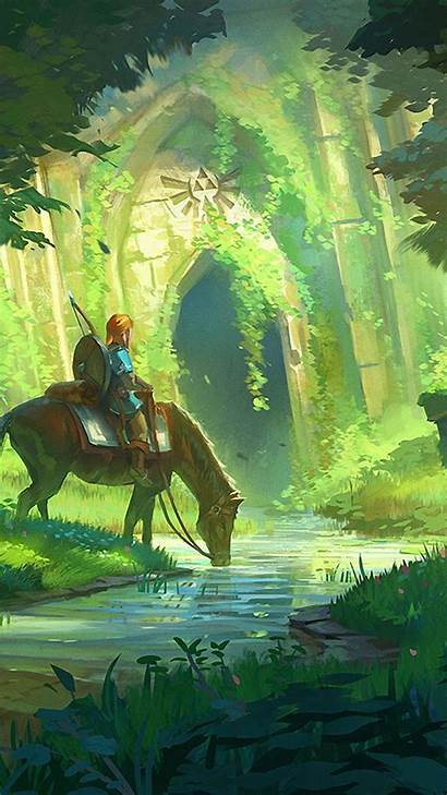 Zelda Botw Legend Wallpapers Phone Breath Iphone