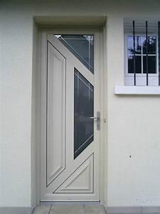 Porte D Entrée Blanche : porte d 39 entr e alu bois blanche habitat conseils ~ Melissatoandfro.com Idées de Décoration