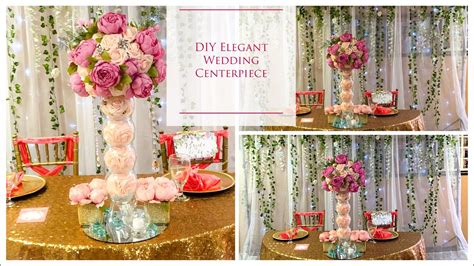diy tall elegant wedding centerpiece diy wedding