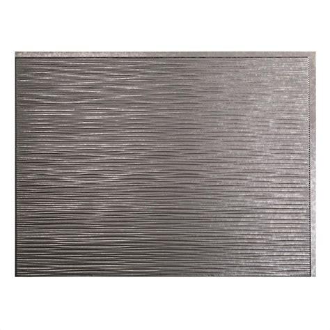 Fasade Ripple 18 in. x 24 in. Galvanized Steel Vinyl