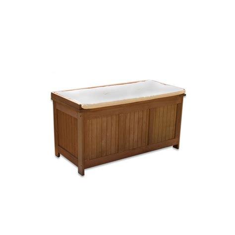 hachoir cuisine banc coffre de rangement jardin extérieur en bois avec coussin