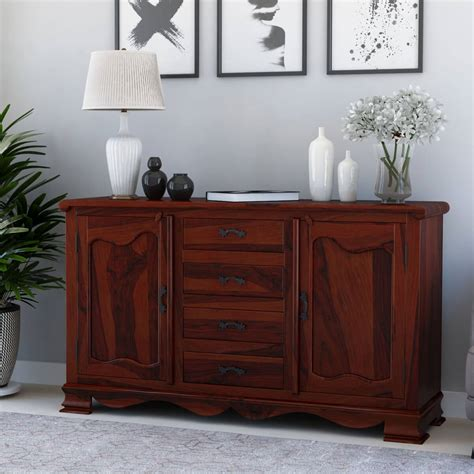 french rustic solid wood  drawer large sideboard cabinet