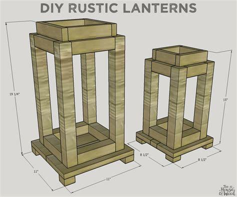 rustic scrap wood lanterns  house  wood