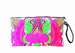 Clutch Colorata Neon Pink Donna Borse di Chiclebelle