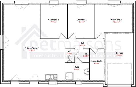 plan maison plain pied 2 chambres garage plan de maison 2 chambres plan maison 2 chambres gratuit