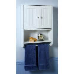 zenith wall cabinet with full width towel bar in white 9114w