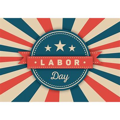 Labor Day Vector Badge - Download Free Art Stock