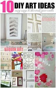livelovediy 10 diy art ideas easy ways to decorate your With ways to decorate your walls