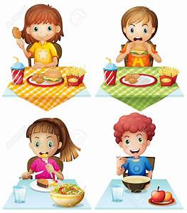 Children Eating Food Clipart - ClipartXtras