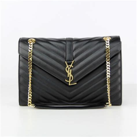 ysl saint laurent classic large monogram bag black cm