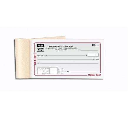 personalized receipt books free shipping