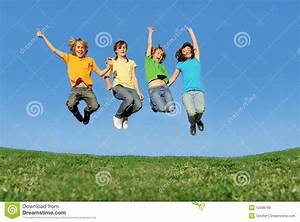 Happy Teenagers Jumping Royalty Free Stock Image - Image ...