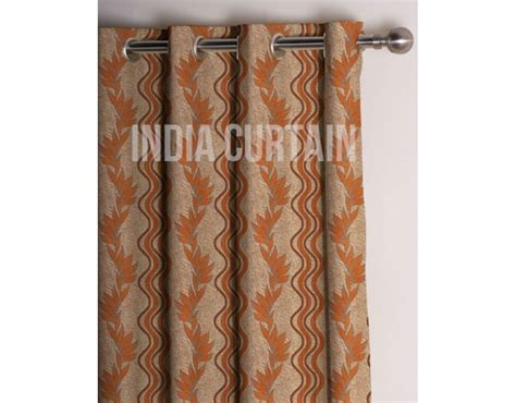 rust colored kitchen curtains presto rust color jacquard curtain india ready made 4956