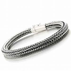 Bracelet En Argent Homme : bracelet gourmette maille serpent en argent massif ~ Carolinahurricanesstore.com Idées de Décoration