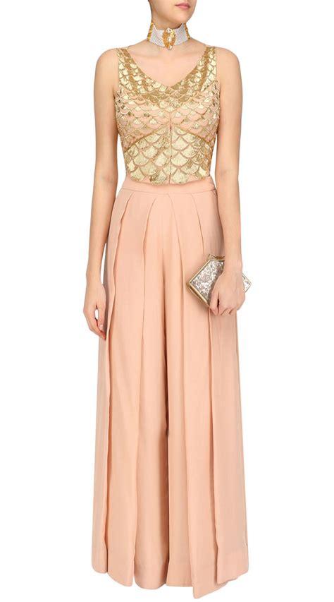 peach georgette designer  size dress suudl