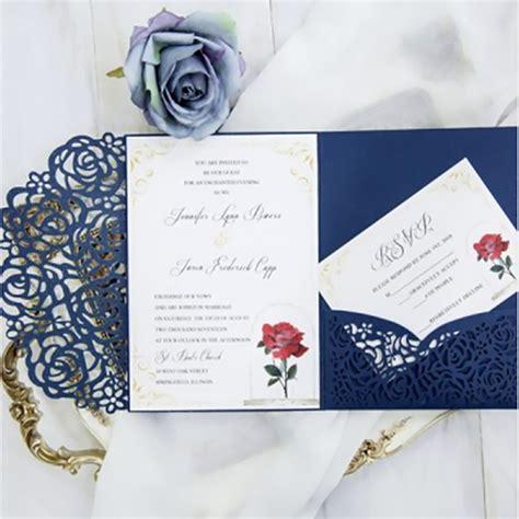 wedding invitation card with RSVP card envelo pocket p tri