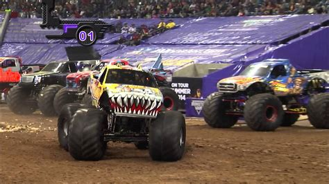 monster truck show monster jam in reliant stadium houston tx 2014 full