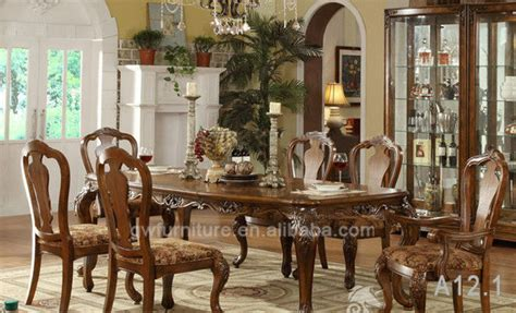 mesa de comedor de madera maciza clasico  silla juegos de