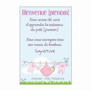 Quoi Offrir Pour Une Naissance : carte de f licitation pour une naissance imprimer ~ Melissatoandfro.com Idées de Décoration