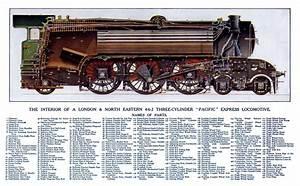 U0026quot The Flying Scotsman U0026quot  Locomotive Cross Section  3000 X