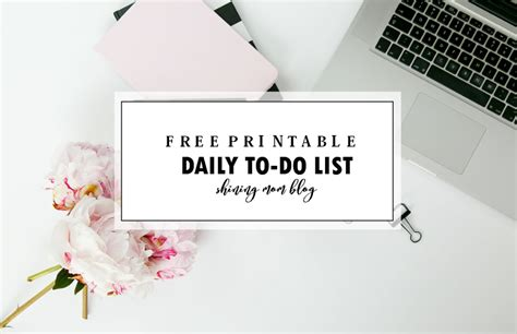 printable daily   list template