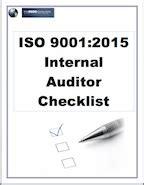 iso  internal auditor checklist