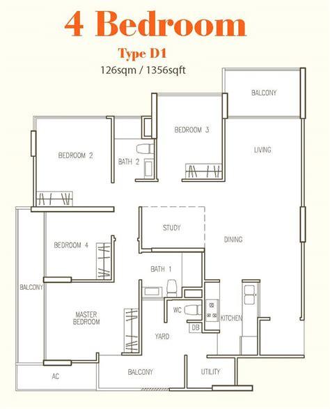 4 bedroom floor plan hillion residences mixed development cck call