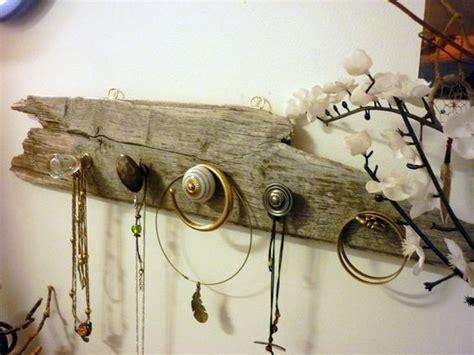 porte bijoux mural en bois flott 233 pat 232 re verre laiton et