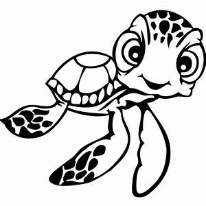 Sea turtle clipart outline from nemo