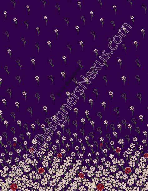 seamless floral border print fabric