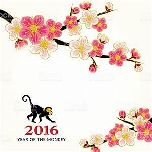 Chinese New Year Peach Flowers Stock Vector Art & More ...
