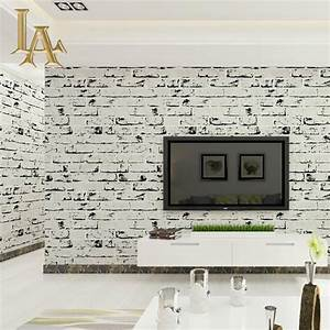Aliexpress.com : Buy Vintage Stone Brick Wallpaper 3D ...