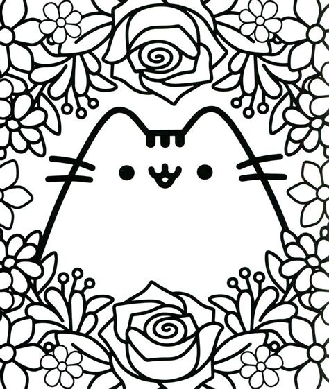 kawaii coloring pages  coloring pages  kids pusheen coloring pages cute coloring