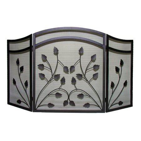 walmart fireplace screen pleasant hearth 3 panel botanical fireplace screen