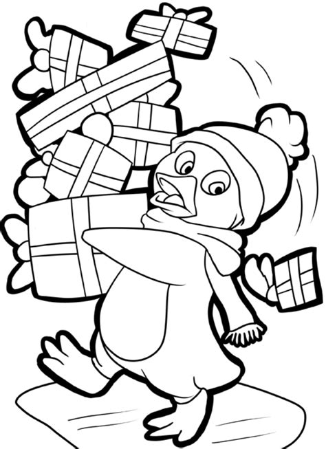 christmas penguin coloring pages printable az coloring pages