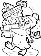 Coloring Penguin Pages Christmas Printable Sheets Presents Holiday Drawing Printables Santa Template Getdrawings Prints Popular Painting Tulamama Getcolorings Coloringhome sketch template
