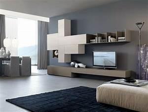 Graue Wandfarbe Wohnzimmer : wohnzimmer mit moderner wandfarbe in dunklem grau und wohnwand wandfarbe grau pinterest ~ Markanthonyermac.com Haus und Dekorationen